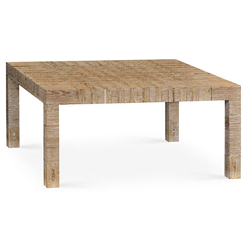 Edwin Square Coffee Table, Natural/Ivory