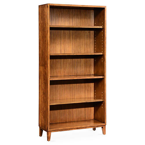 Shirting Stripe Bookcase, Rustic Java