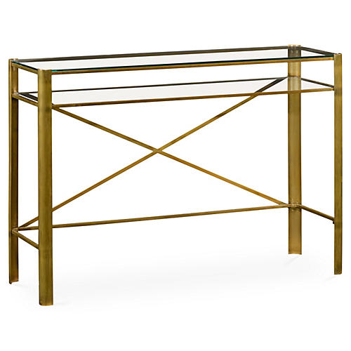 "Modernist 48"" Console, Gold"