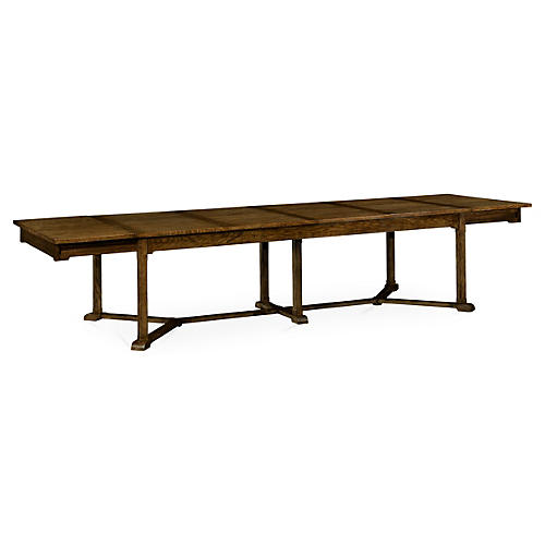 """Hawford 100"""" Ext. Dining Table, Oak"""
