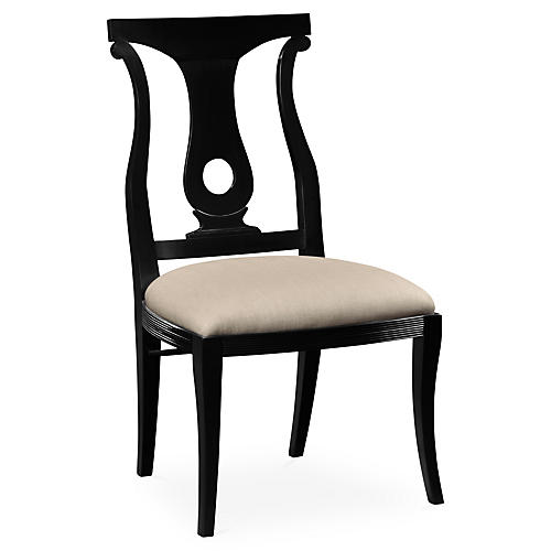 Lock Side Chair, Black