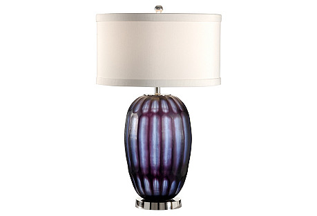 Melanie Crystal Table Lamp, Purple/Blue