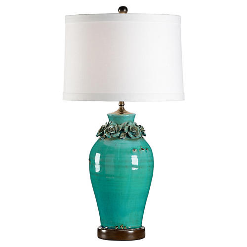 Daisy Table Lamp, Turquoise