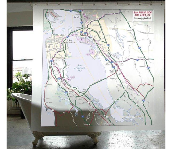San Francisco Map Shower Curtain