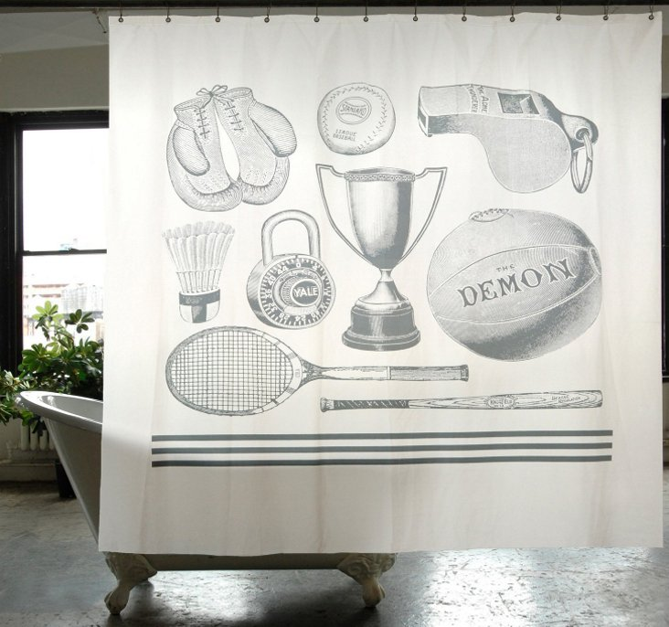 Sport Canvas Shower Curtain