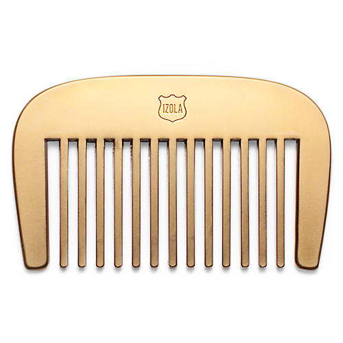The Long and Short Of It Beard Comb, Brass