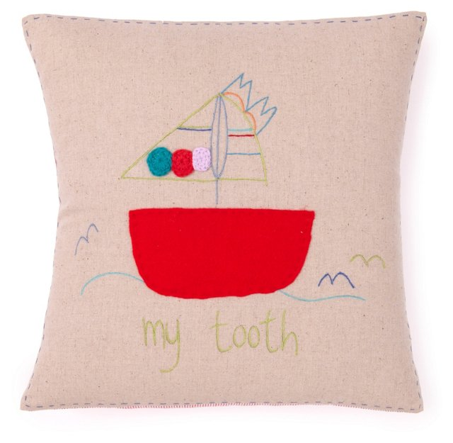 Tooth Fairy Pillow, Sailboat