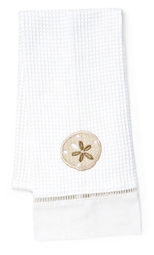 Sand Dollar Waffle Weave Towel, Beige