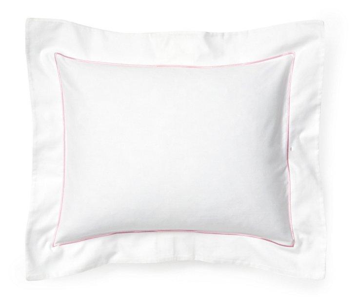 Satin Stitch Boudoir Pillow, Pink