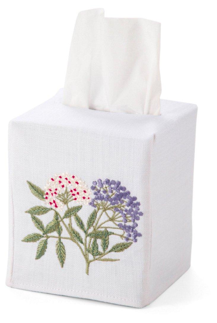 Elderberry Tissue Box Cover, Green/Multi