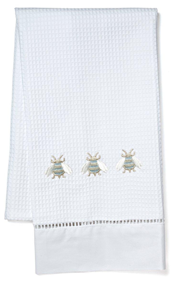 Napoleon Bees Guest Towel, Beige/Multi