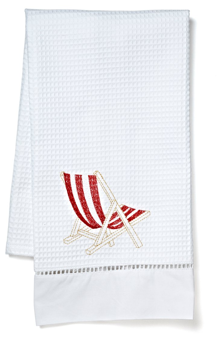 Deck Chair Guest Towel, Red