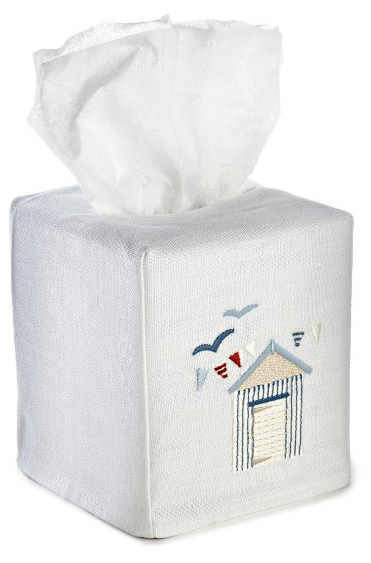 Beach House Tissue Box Cover, Multi