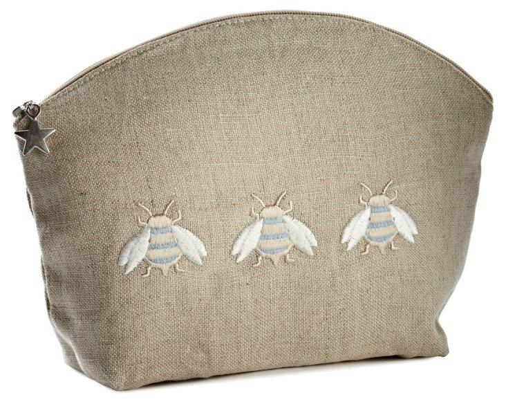 Small 3 Napoleon Bee Linen Cosmetics Bag