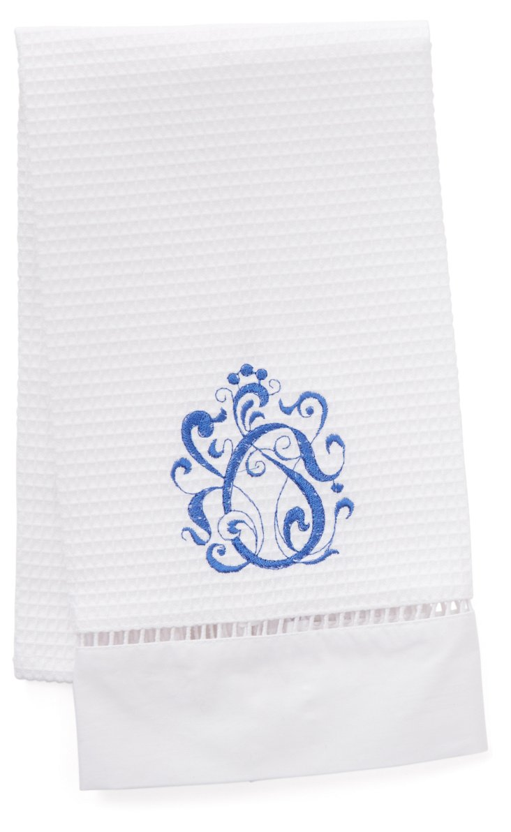 English Scroll Guest Towel, Periwinkle