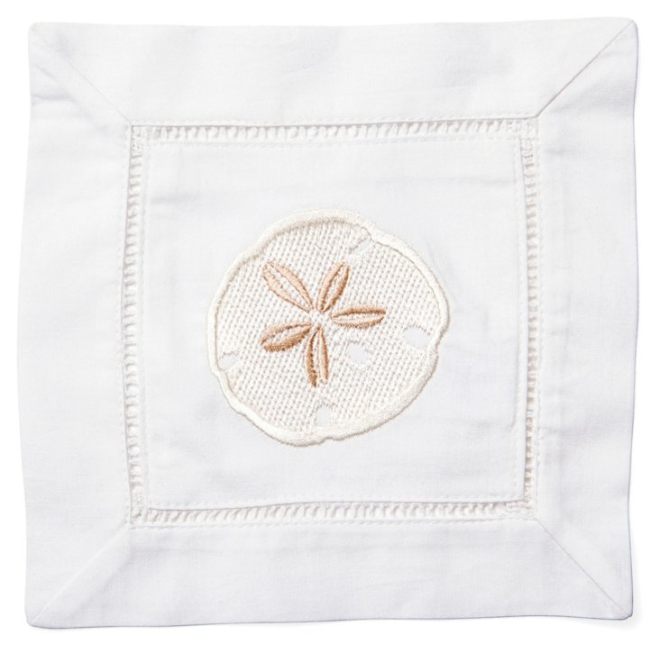 S/4 Sand Dollar Cocktail Napkins