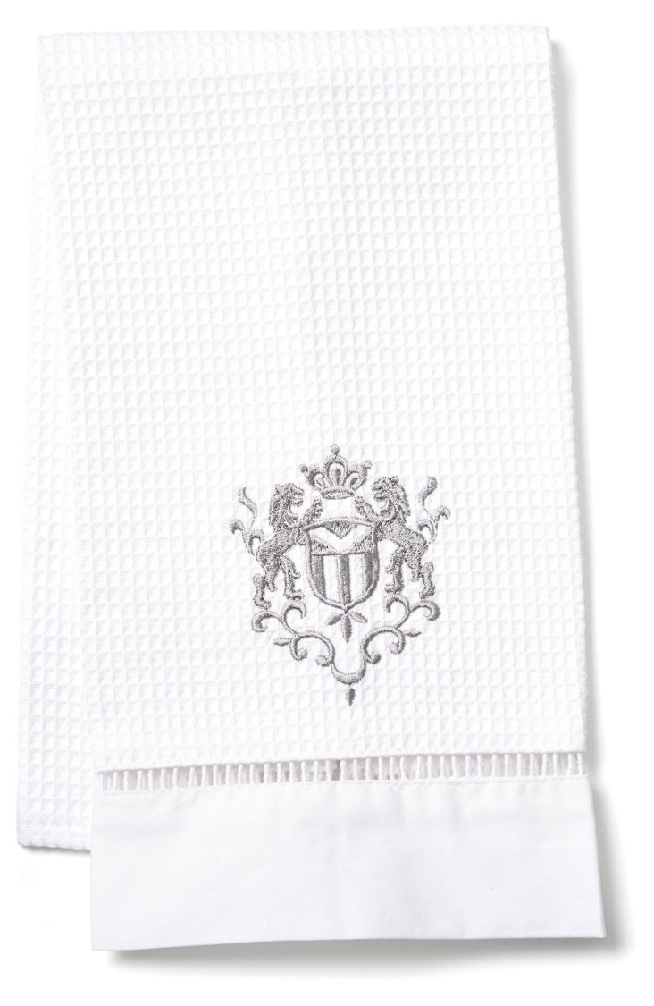 Majestic Scroll Guest Towel, Pewter