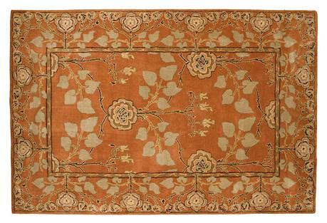 2'x3' Anoush Rug, Orange/Beige