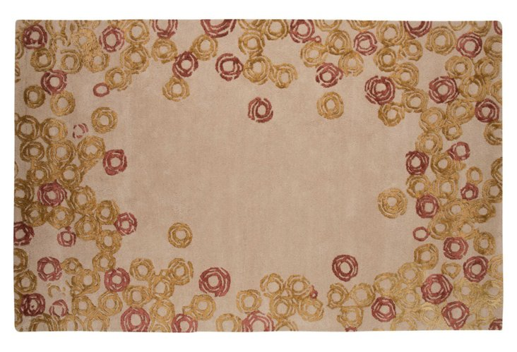 Clark Rug, Taupe/Rose/Gold