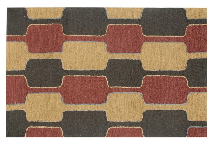 Collette Rug, Charcoal/Multi