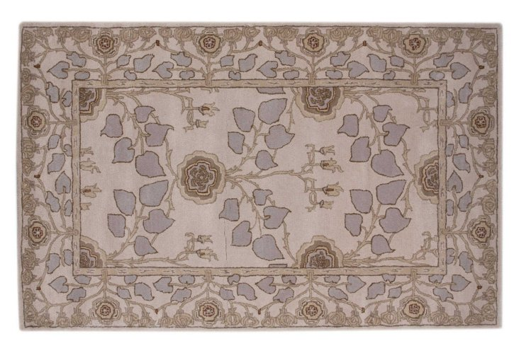 5'x8' Glennon Rug, Taupe/Lilac