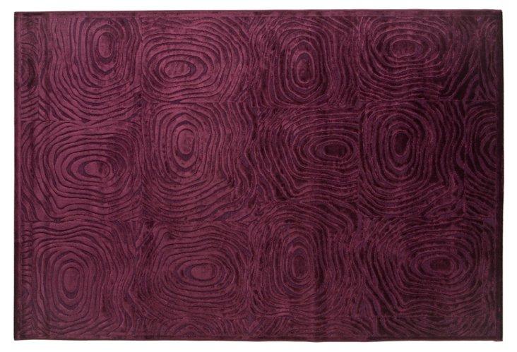 9'x12' Paz Rug, Dark Violet