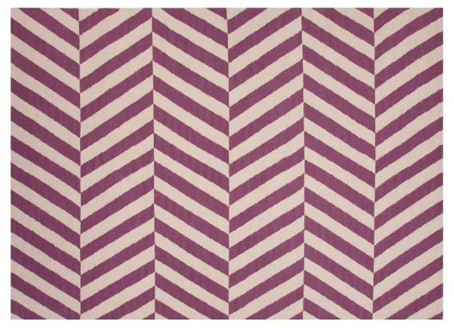 Loma Rug, Linen/Purple