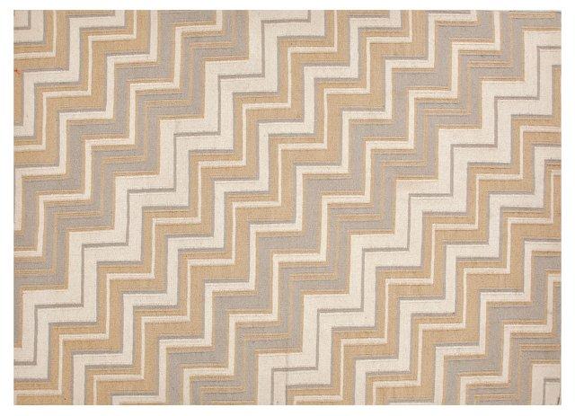 """3'6""""x5'6"""" Encanto Flat-Weave Rug, Sand"""