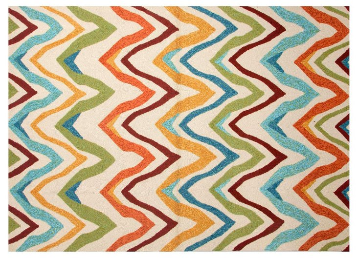 2' x 3' Ahe Outdoor Rug, Multi