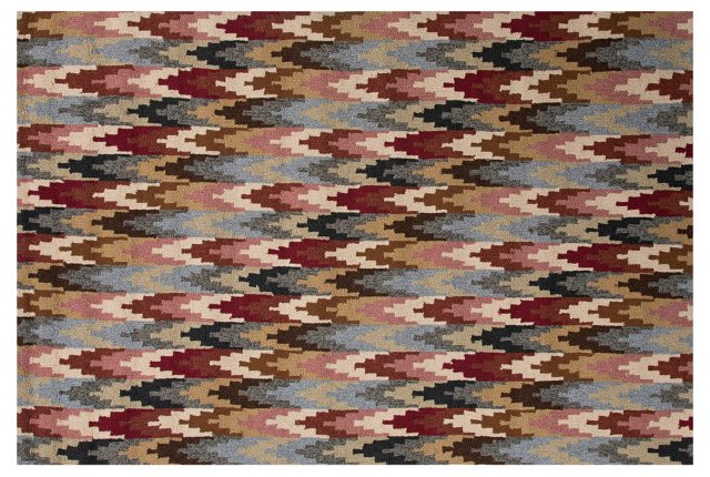 Tawpoot Outdoor Rug, Red/Multi
