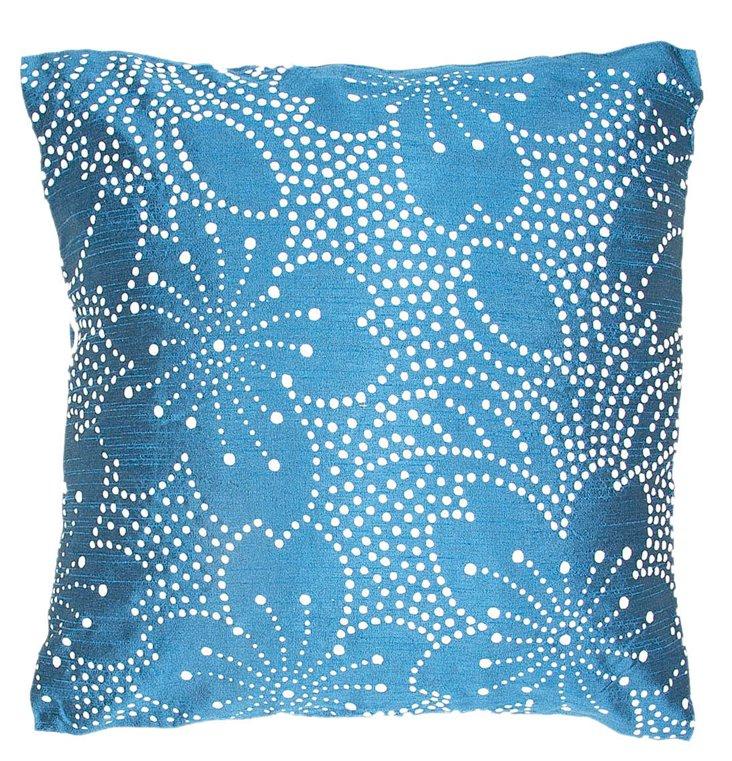 Lotus 18x18 Pillow, Blue
