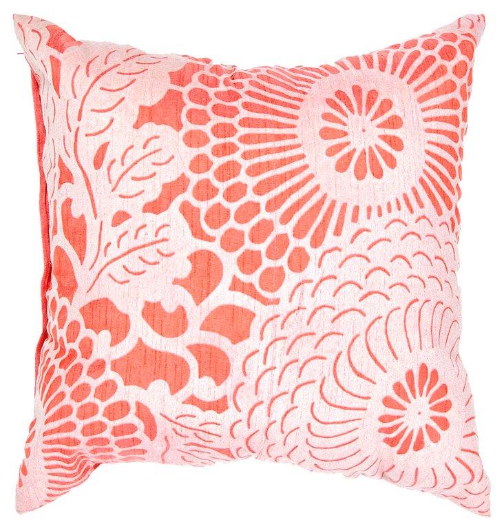 Coy 18x18 Pillow, Poppy