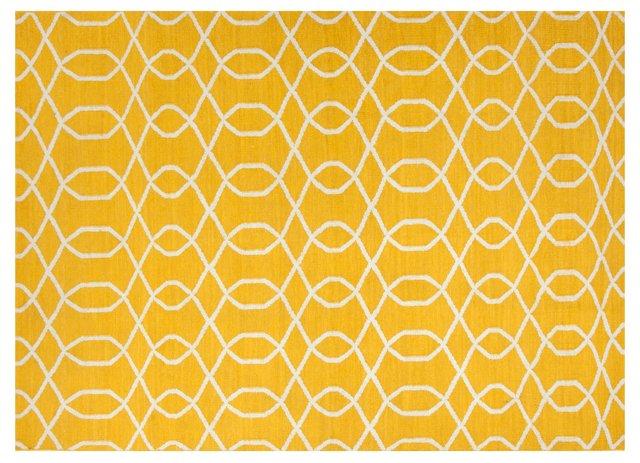 Tanya Flat-Weave Rug, Yellow