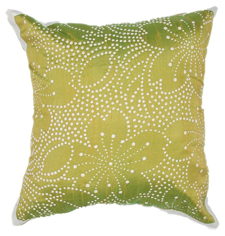 Lotus 18x18 Pillow, Green