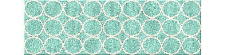 """2'6""""x8' Anais Flat-Weave Runner, Blue"""