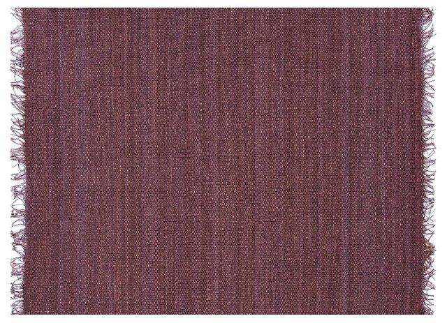 Kai Hemp Flat-Weave Rug, Purple