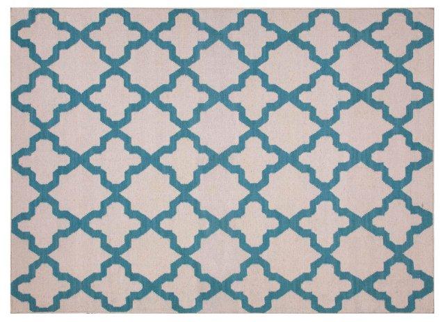 Horatio Flat-Weave Rug, Blue