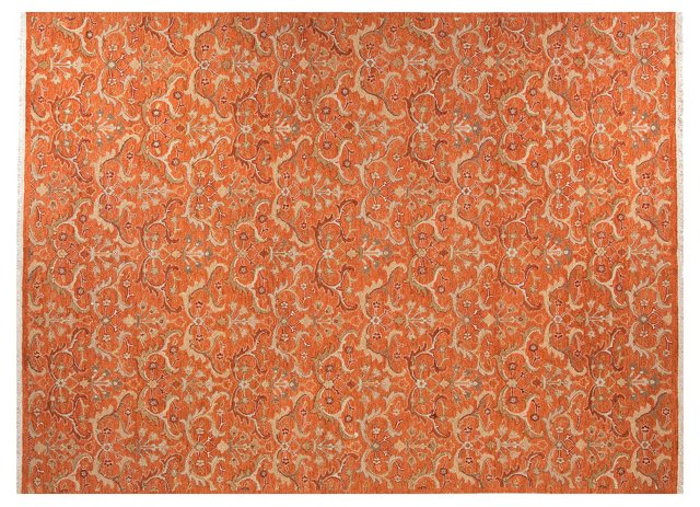 9'x12' Perry Rug, Red/Orange