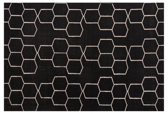 Dane Flat-Weave Rug, Black