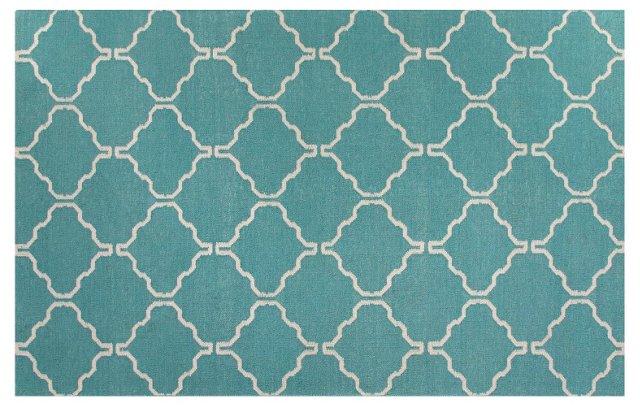 Gemma Flat-Weave Rug, Blue