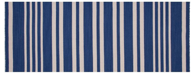 "2'6""x8' Grove Flat-Weave Runner, Blue"