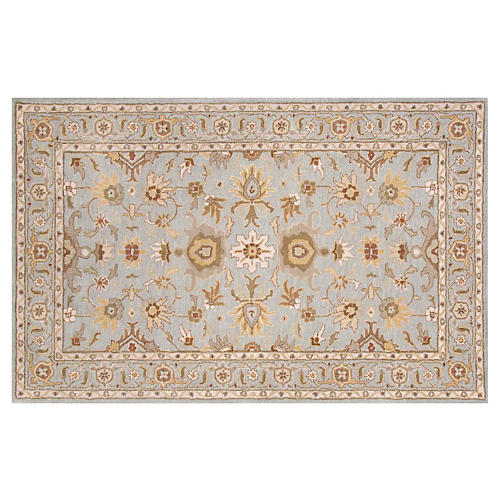 Cambridge Rug, Blue/Brown