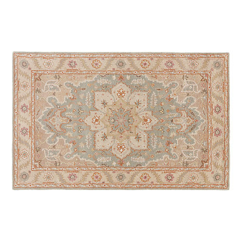 Chance Rug, Blue/Ivory