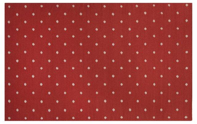 "3'6""x5'6"" Pensa Flat-Weave Rug, Red"