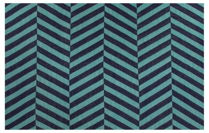 Sofia Flat-Weave Rug, Blue