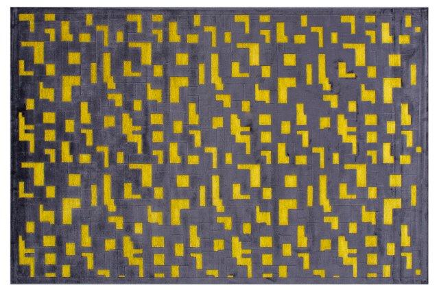 Tiburon Rug, Black/Yellow