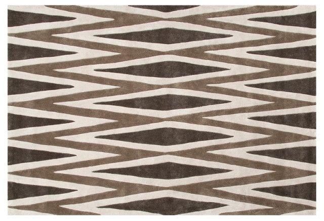 Bale Rug, Brown/Ivory