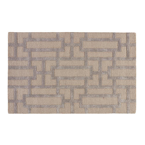 Jin Rug, Ivory/Gray