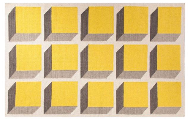 Milena Flat-Weave Rug, Yellow