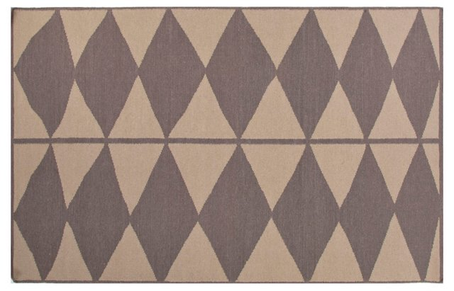 Moloh Flat-Weave Rug, Taupe